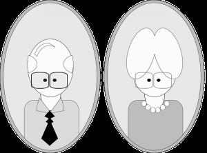 anziani stilizzati